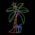8' x 11' Silhouette Christmas Palm
