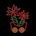 7' Silhouette Poinsettia Car