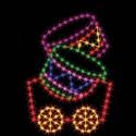 6' Silhouette Drum Car
