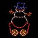 7' Silhouette Snowman Car