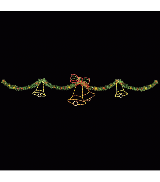 40' Garland & Holiday Bells Skyline