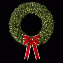 Cascade Wreath - Building Mount