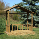 Wood stable for life size & near life size figures