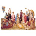 Simulated Wood Nativity Figures