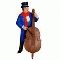 Canterbury Musician with Bass Violin