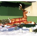 Fawn Reindeer (Leaping)