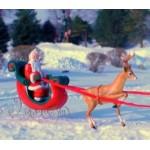 Life Size Santa and Reindeer Team