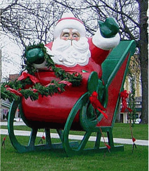Giant Sleigh for Santa