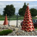 Red Fiberglass Tree - Set of 3