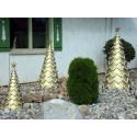Gold Fiberglass Tree - Set of 3