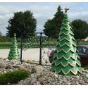 Green Fiberglass Tree - Set of 3
