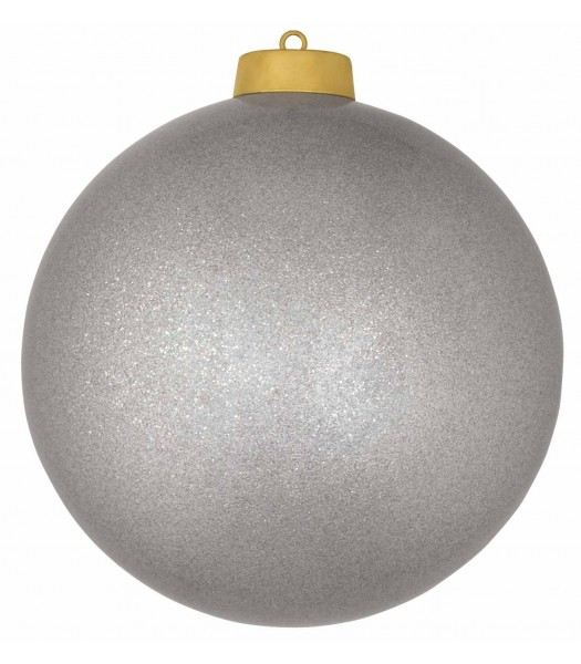 3' Fiberglass Ornament Metallic with Cap
