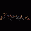 50' Animated Boy Sledding