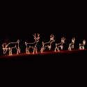 8' x 40' Animated Spooked Deer