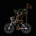 11' x 10' Bicycling Elf with No Hands
