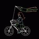 11' x 10' Bicycling Girl