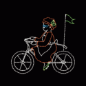 10' x 10' Bicycling Mrs. Santa