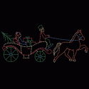 12' x 28' Christmas Horse and Carriage