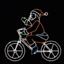 9' x 10' Bicycling Santa