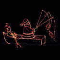 12' x 18' Animated Fishing Santa with Rowing Elf