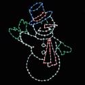 10' Animated Waving Snowman