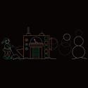 15' x 45' Animated Snowman Machine