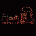 8' x 6' Coal Car with Gifts