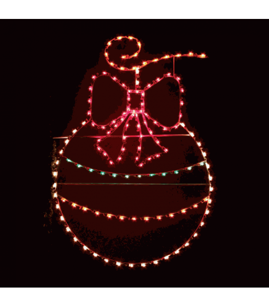 7.5' Ornament with Bow