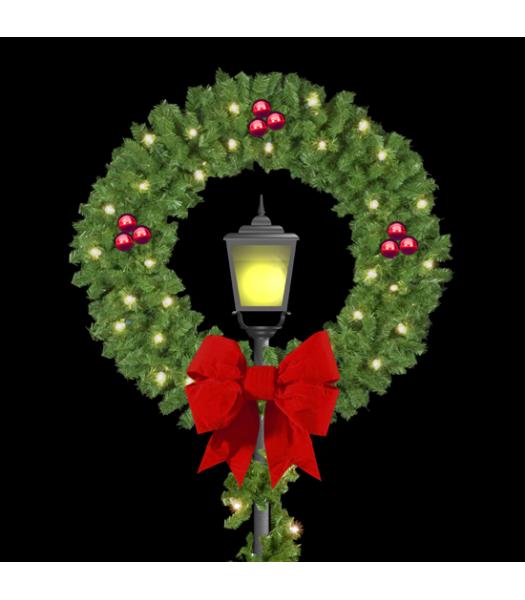 Post Over Wreath