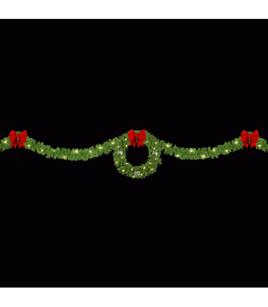 Single Drape Wreath Skyline