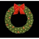 Mountain Pine Wreath with Red Ball Clusters